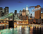 Brooklyn Bridge Wall Mural (Color)