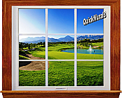 Sand Trap Window 1-Piece Canvas Peel & Stick Wall Mural
