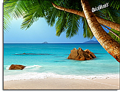 Secluded Beach Peel and Stick Canvas Wall Mural