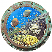 Undersea Porthole #1 Wall Mural