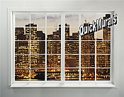 Cityscape Window # 2 Peel & Stick (1 piece) Wall Mural