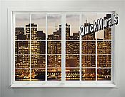 Cityscape Window # 2 Peel & Stick (1 piece) Wall Mural