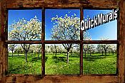 Orchard Window (Rustic) Peel & Stick Wall Mural