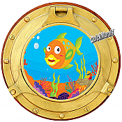 Cartoon Porthole #2 Wall Mural