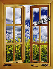 Flower Field Window #1 (open)1-Piece Peel & Stick Wall Mural
