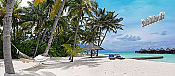 Tropical Island Resort Panoramic Peel And Stick Wall Mural