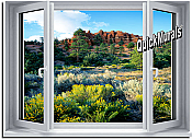 Desert Window 1-Piece Peel & Stick Wall Mural