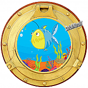 Cartoon Porthole #3 Wall Mural