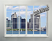 New York City Skyline Window # 2 Peel & Stick (1 piece) Wall Mural