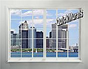 New York City Skyline Window # 2 Peel & Stick (1 piece) Wall Mural