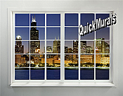 Cityscape Window # 1 Peel & Stick (1 piece) Wall Mural