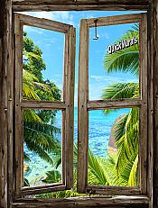 Beach Cabin Window Mural #8