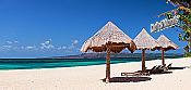 Beach Chairs Panoramic Peel And Stick Wall Mural