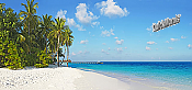 Island Vacation Panoramic Peel And Stick Wall Mural