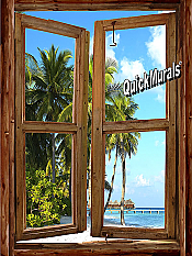 Beach Cabin Window Mural #1