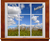 Meadow Window 1-Piece Canvas Peel & Stick Wall Mural