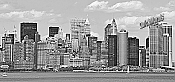 NYC Panoramic (B & W) Peel And Stick Wall Mural