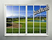 Golf Course Window Peel and Stick 1-piece Wall Mural