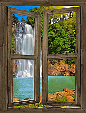 Waterfall Cabin Window Mural #1